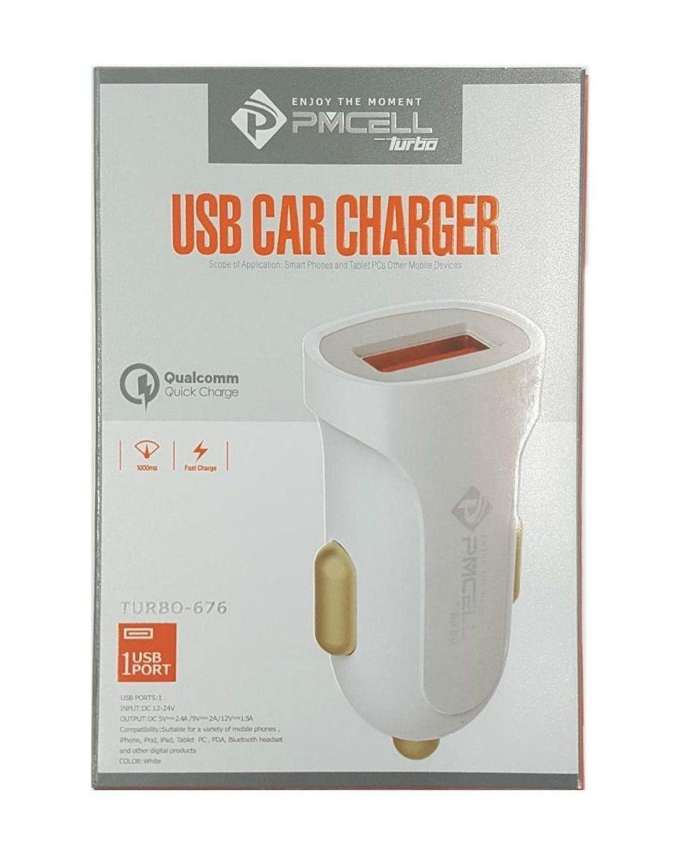 CARREGADOR VEICULAR USB PMCELL TURBO676 CV34