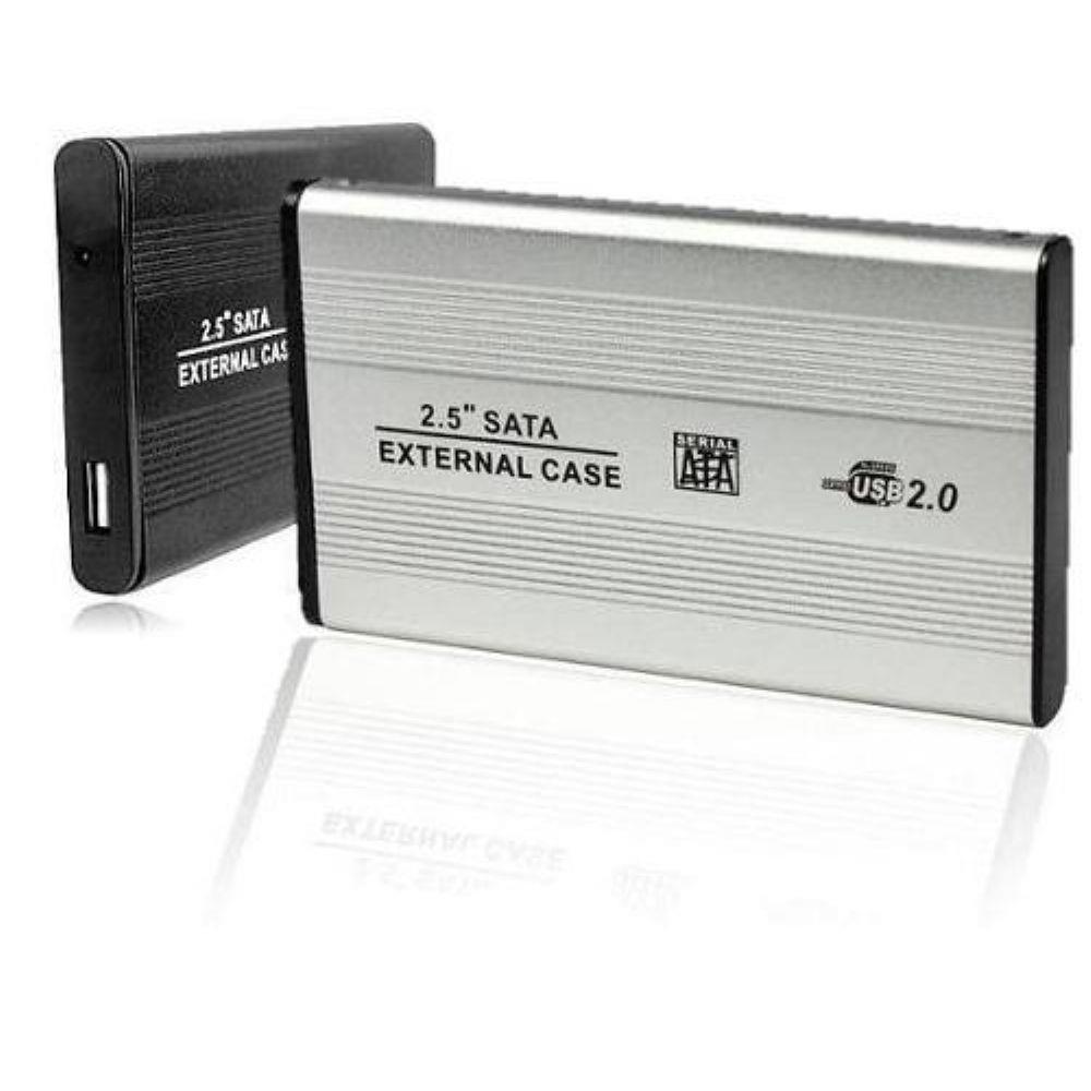 Case Externo Alumínio 2,5 SATA USB 2.0 p/ SSD HD Notebook