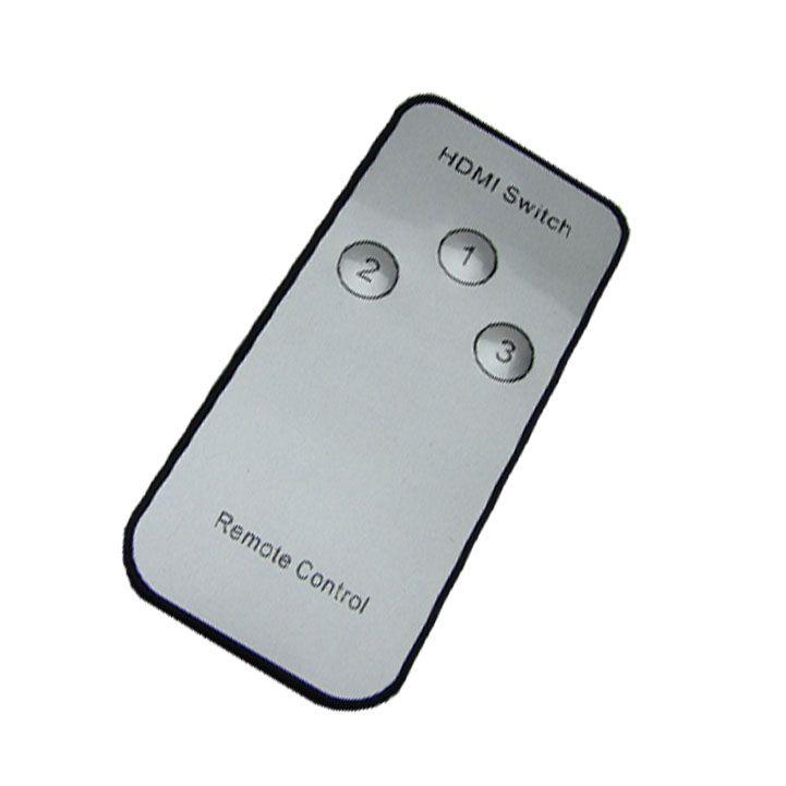 Chaveador Switch Hdmi 3x1 + 4x Cabo Hdmi 1,5m c/ Controle