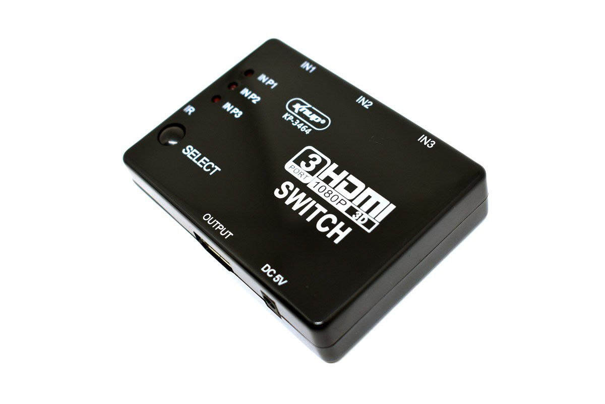 Chaveador Switch HDMI 3x1 Knup KP-3464