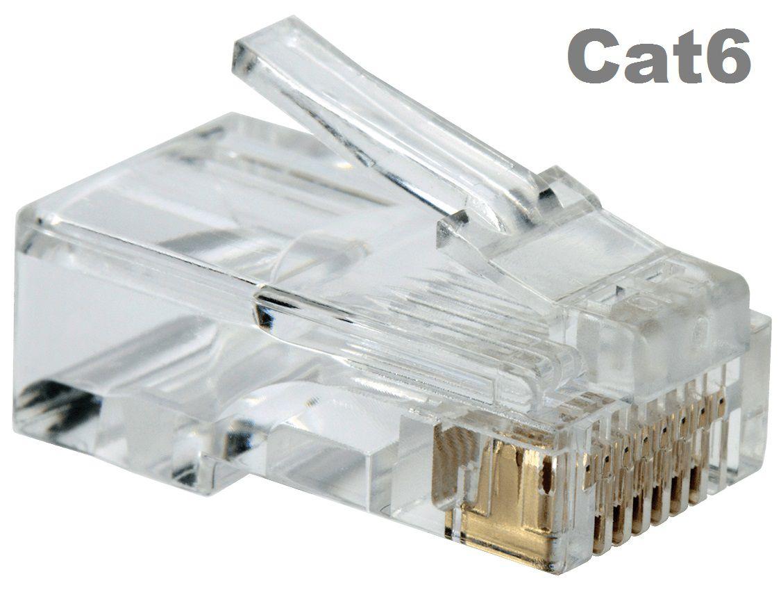 Conector CAT6 RJ45 (100 unidades)