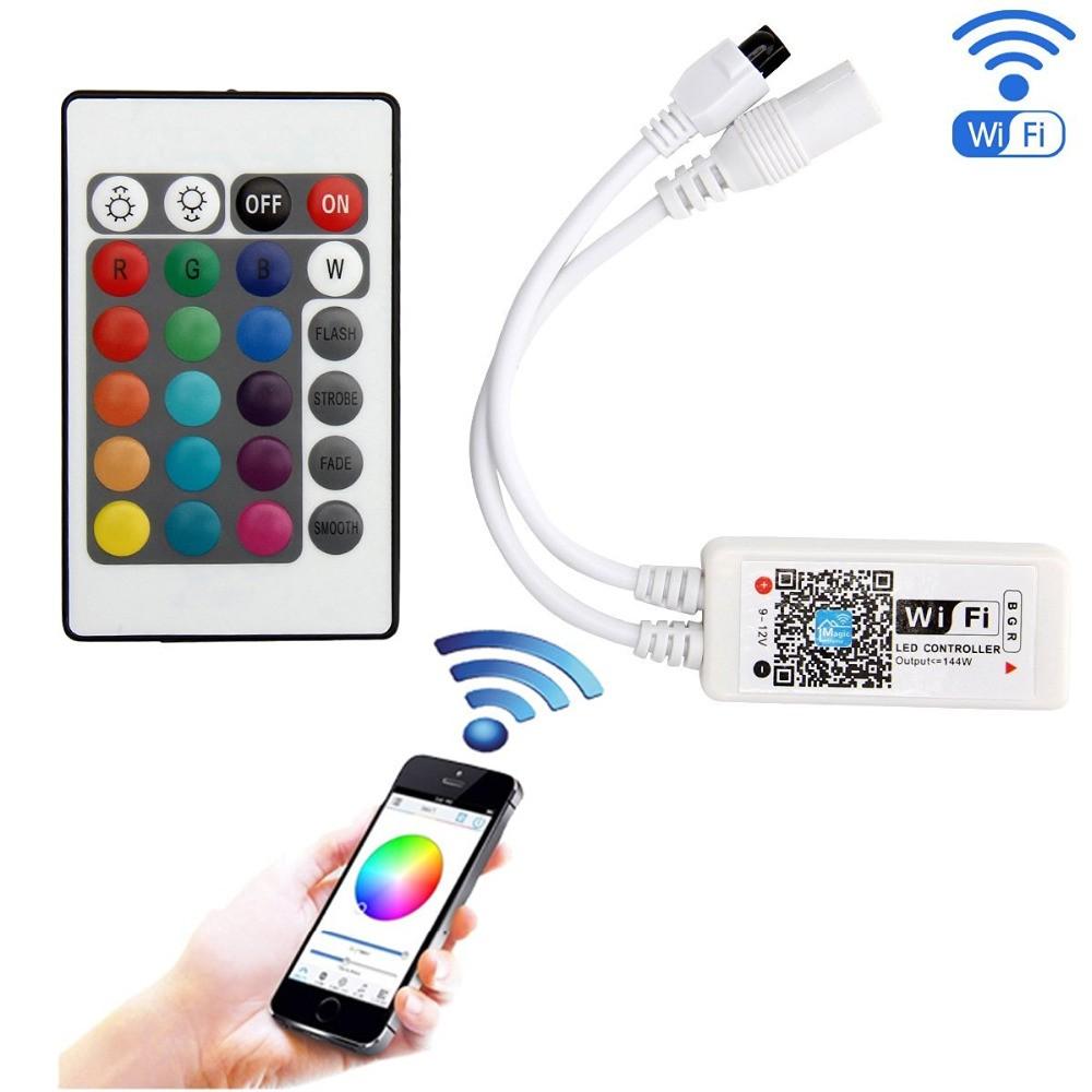 Controlador RGB  WIFI p/ Fita ou Lâmpada RGB