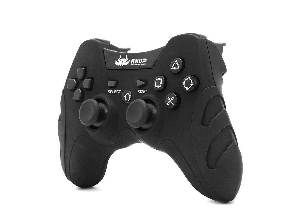 Controle Joystick S/ Fio PC PS1 PS2 e PS3 Knup KP-4032