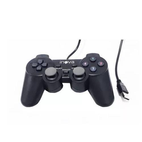 Controle Joystick DualShock USB PC Notebook Inova CON-203Z