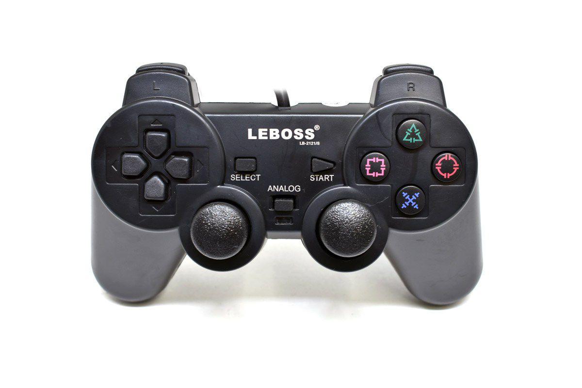 Controle P/ PS2 C/ Fio LEBOSS LB-2121/s