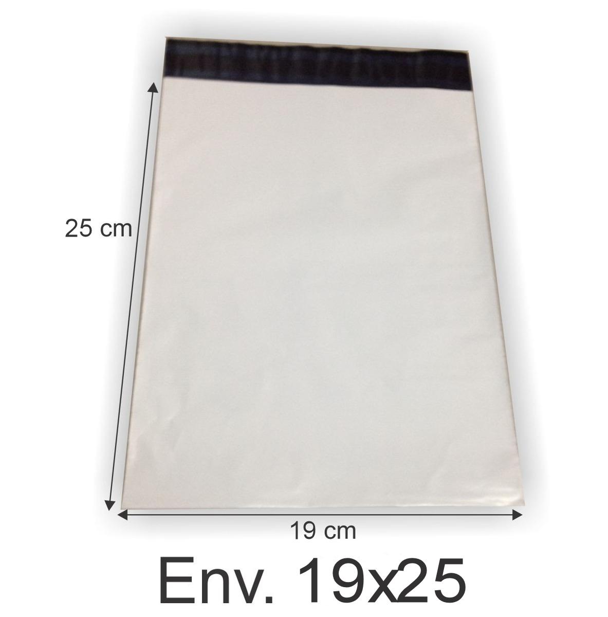 Envelope Plástico Segurança Lacre Tipo Sedex 19x25 (250pcs)