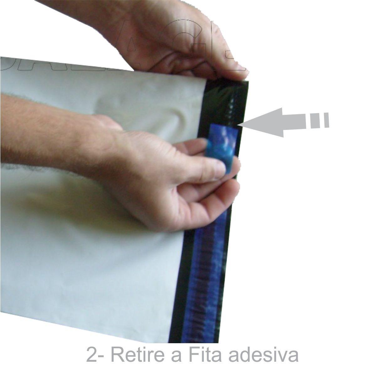 Envelope Plástico Segurança Lacre Tipo Sedex 26x35 (100pcs)