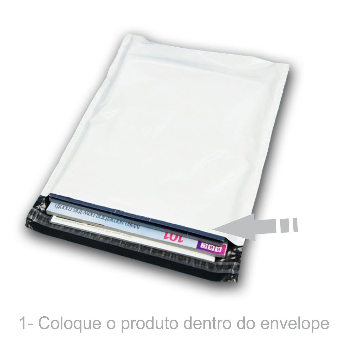 Envelope Plástico Segurança Lacre Tipo Sedex 60x40 (100, 250 ou 500 Unidades)