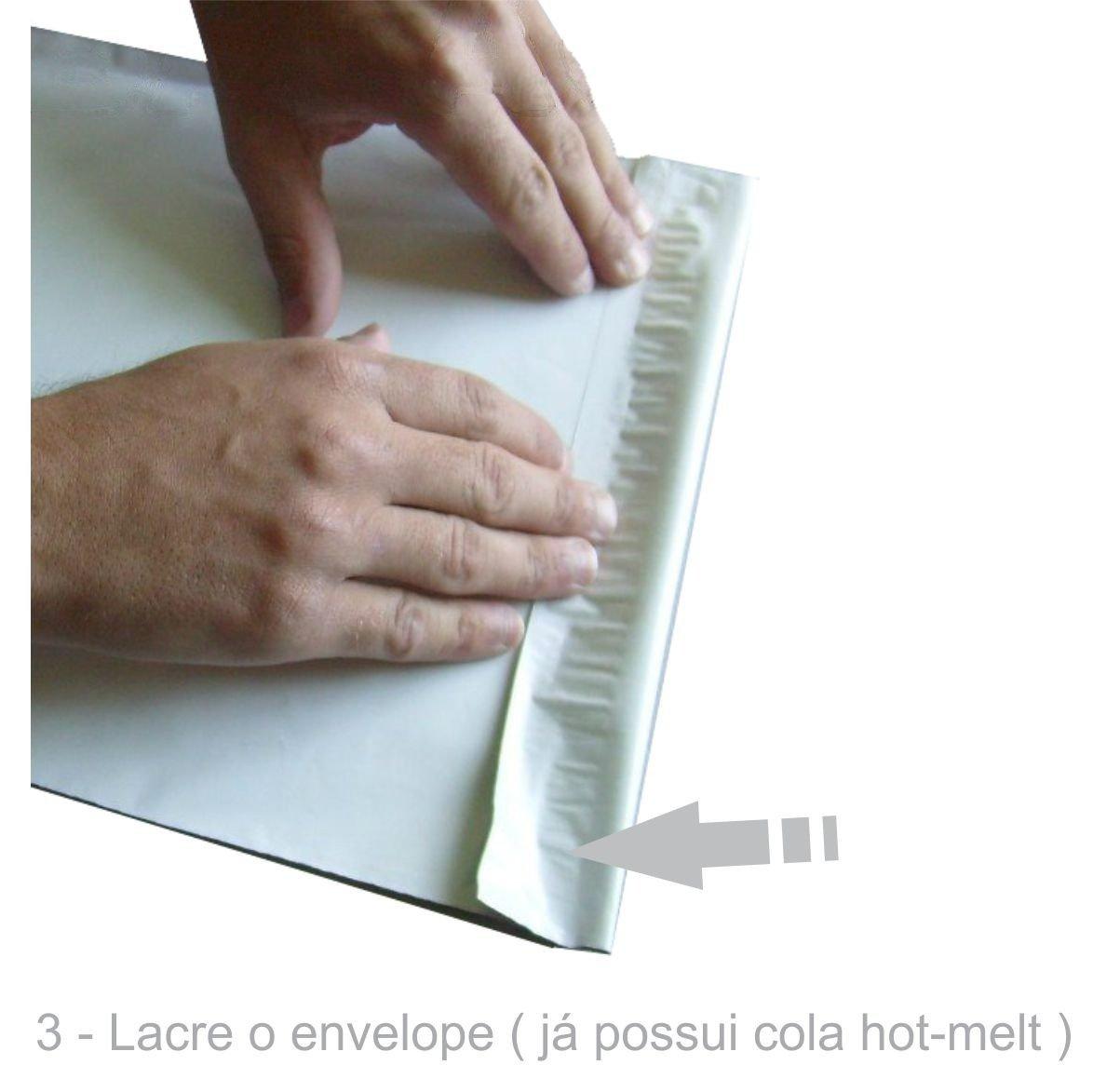 Envelope Plástico Segurança Lacre Tipo Sedex 80x60 (50 Unidades)
