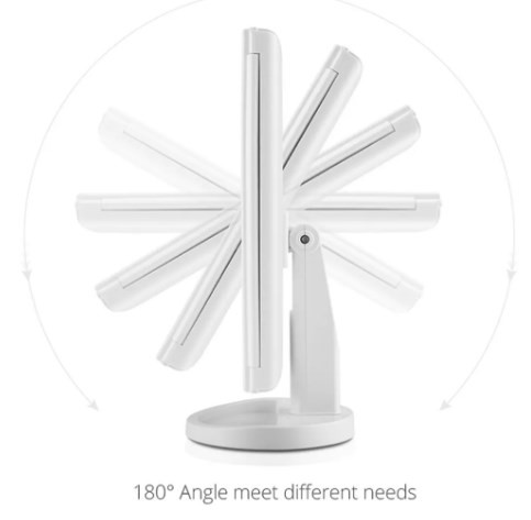 Espelho Mesa Luz Led para Maquiagem USB LMF1030 - LUATEK