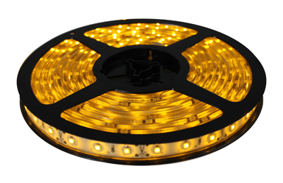 Fita de LED 5M Prova D´água 12V Amarelo (60 led/m) SMD 3528