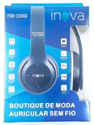 Fone Bluetooth Microfone Rádio Digital Sd FON-2200D - INOVA