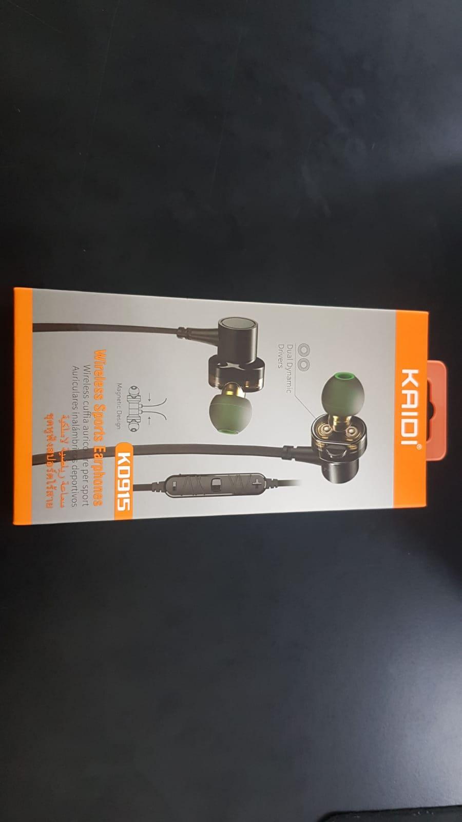 Fone de Ouvido Bluetooth Dual Dynamic Speakers Magnético KD915 - KAIDI