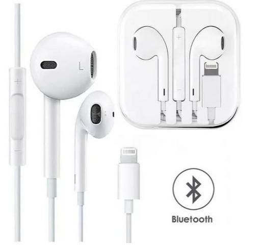 Fone de Ouvido C/ Entrada Lightning P/ Iphone Earphone HiFi