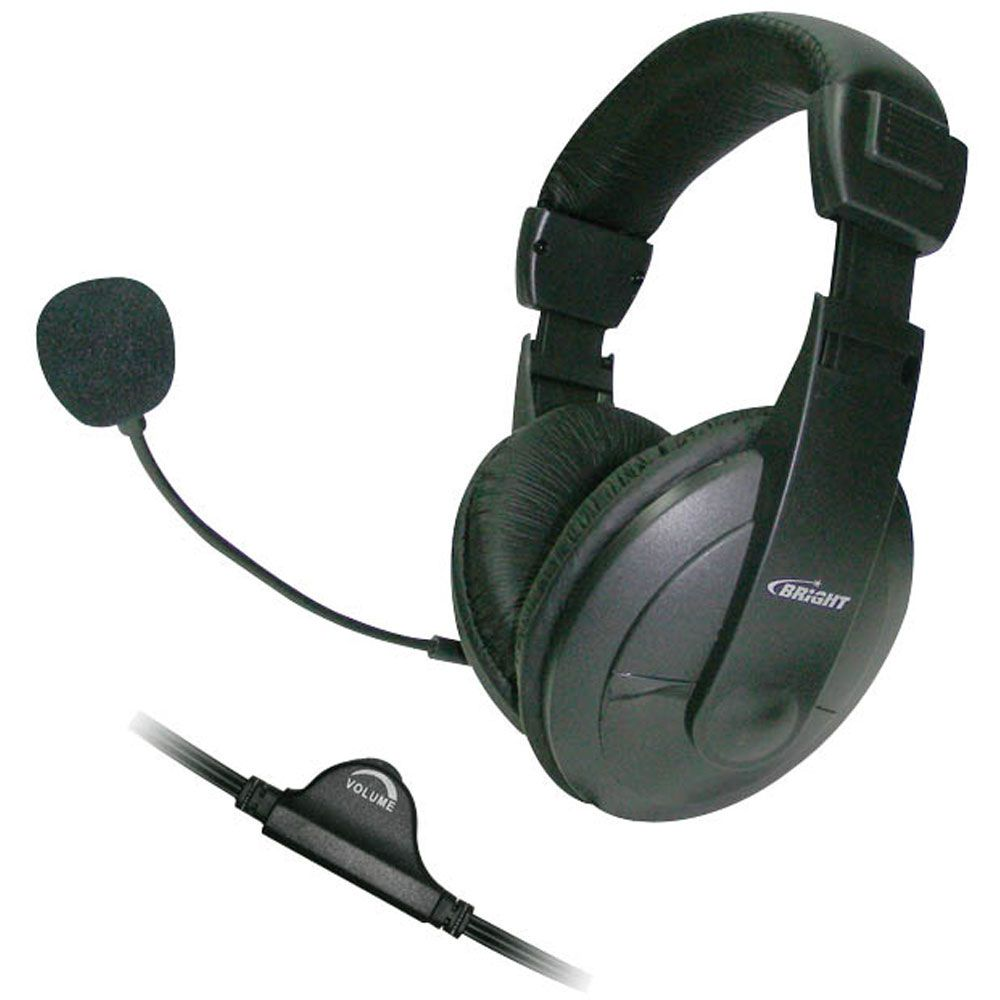 Fone de Ouvido com microfone Headset Bright 1409