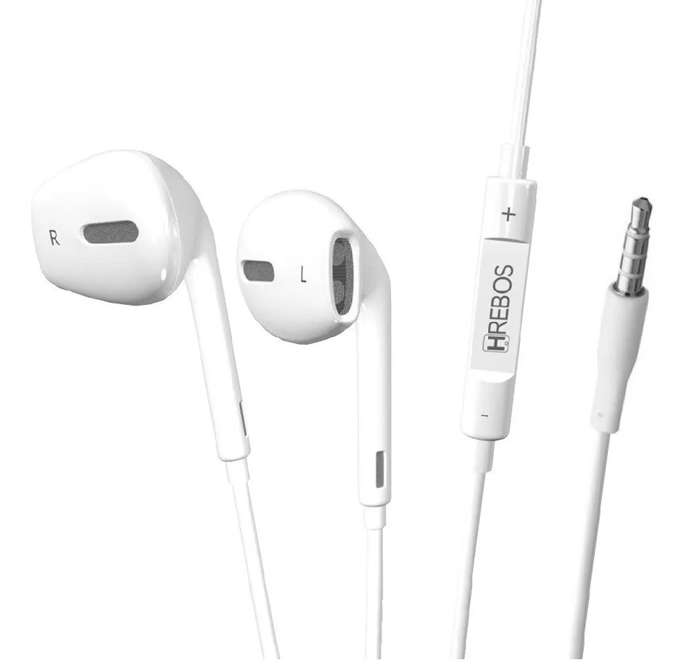 Fone de Ouvido Controle de Volume + Microfone HS37 - HREBOS