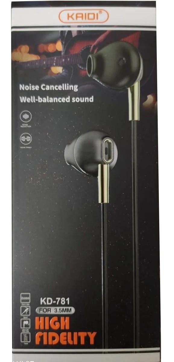 Fone de Ouvido Intra-Auricular P2 KD781