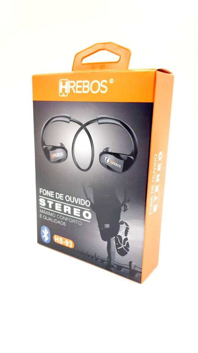 Fone de Ouvido Stereo Bluetooth Sport HS93 - HREBOS
