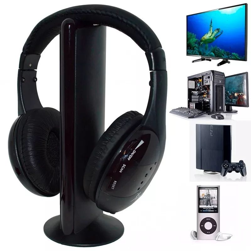 Fone de Ouvido Wireless FM 5 Em 1 Knup KP-323