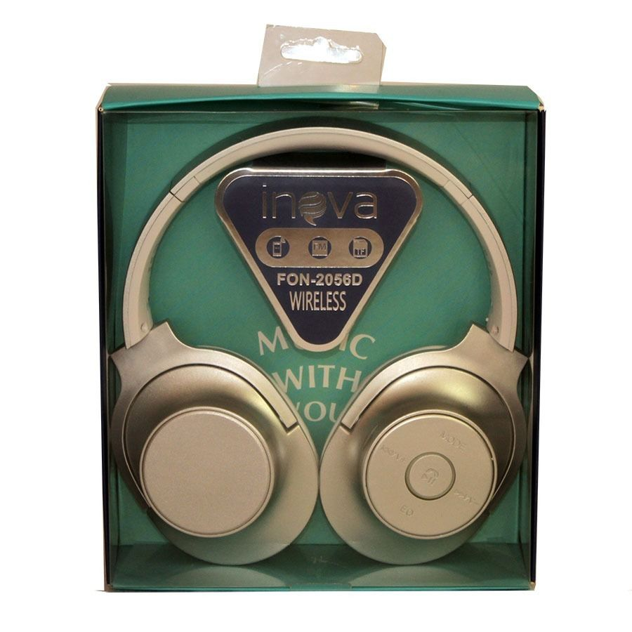 Fone Ouvido Bluetooth Wireless C/ Rádio FM Inova FON-2056D / FON-7345