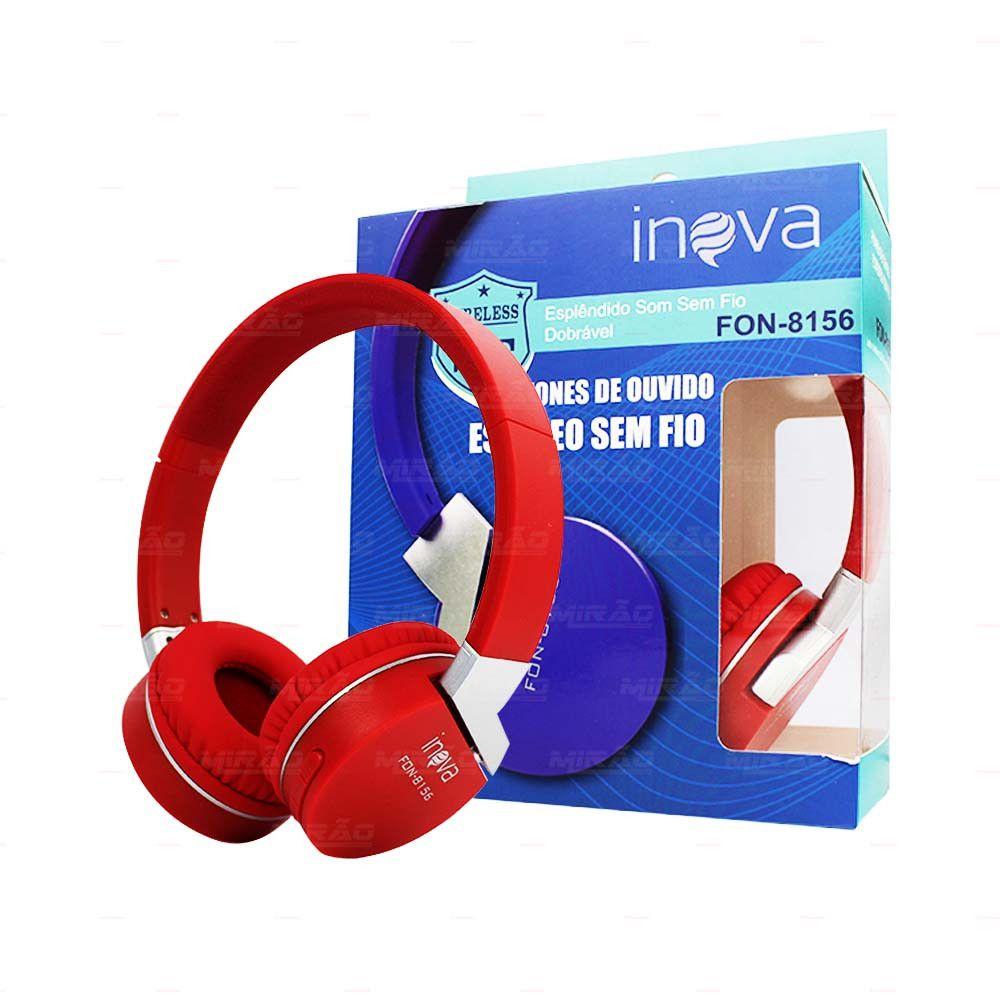 Fone Ouvido Bluetooth Wireless C/ Rádio FM Inova FON-8156