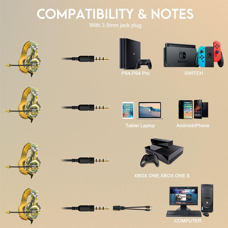 Fone Ouvido Headset Gamer K1 Pro Spectrum Camuflado Desert Battle Led Onikuma