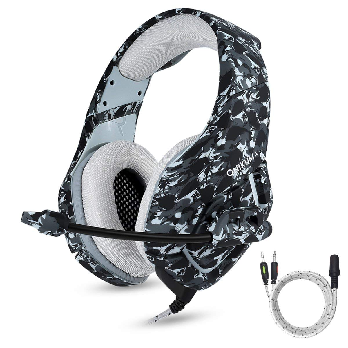 Fone Ouvido Headset Gamer K1B Camuflado Urban Assault Onikuma