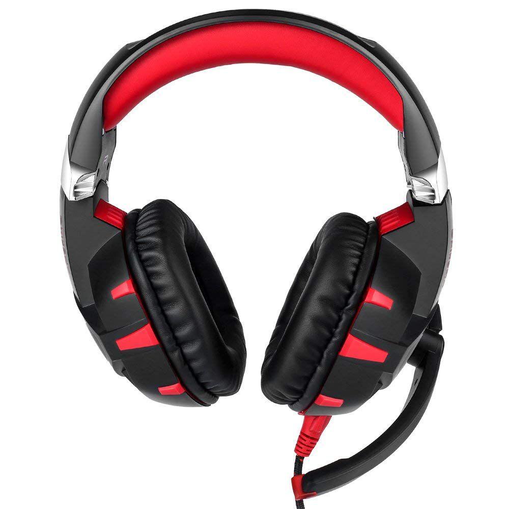 Fone Ouvido Headset Gamer K2 7.1 Red Led Onikuma