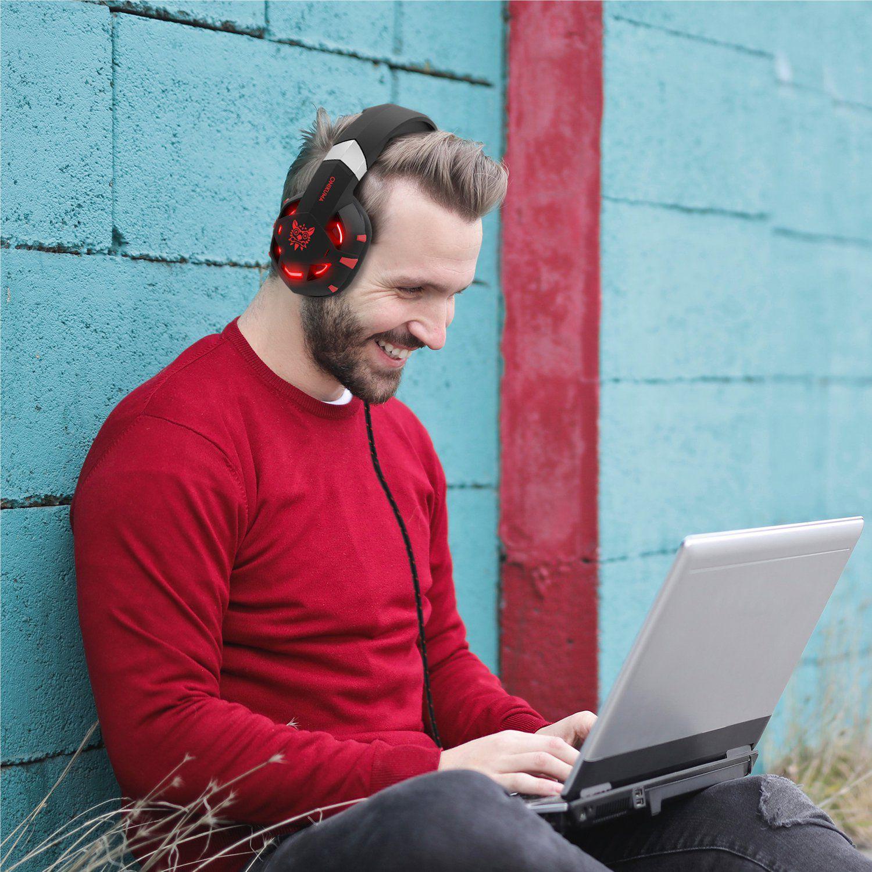 Fone Ouvido Headset Gamer K2 Pro Red Led Onikuma