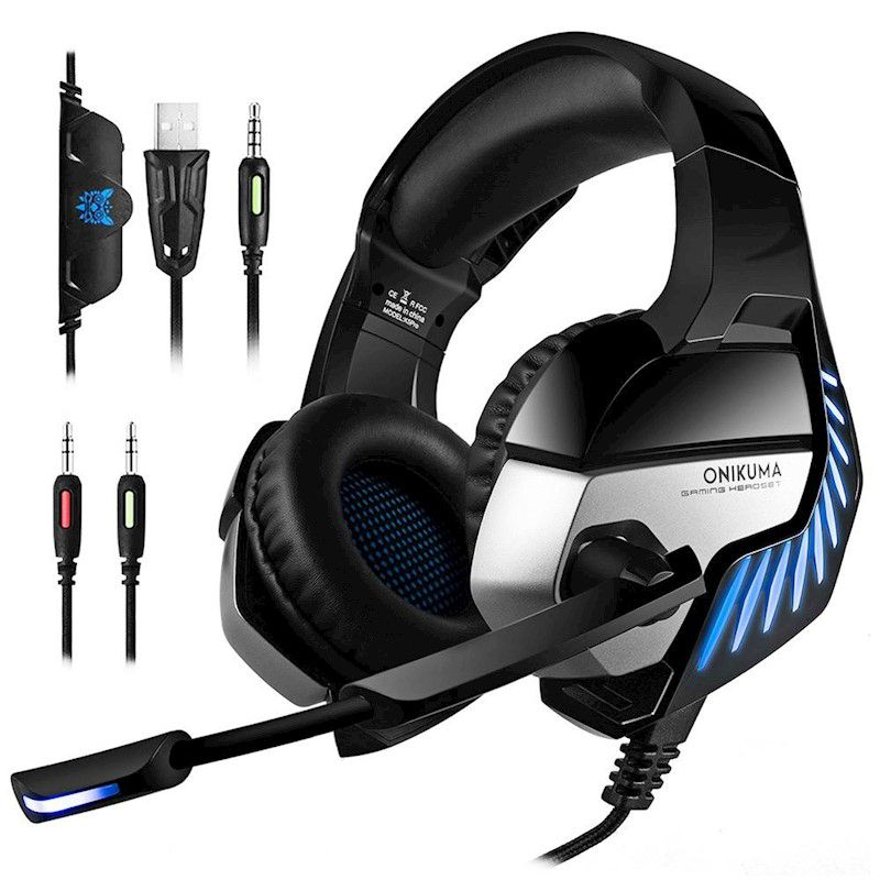 Fone Ouvido Headset Gamer K5 Pro Spectrum Blue Led Onikuma