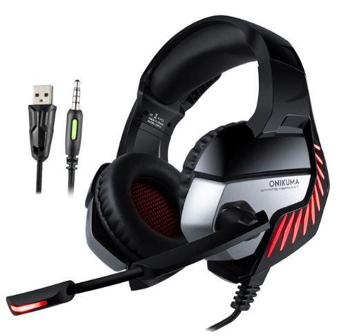 Fone Ouvido Headset Gamer K5 Pro Spectrum Red Led Onikuma