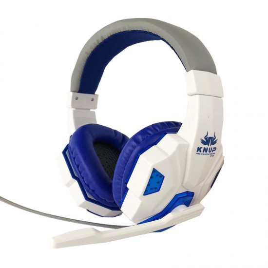 Fone Ouvido Headset Gamer PC P2 C/ LED Knup KP-397