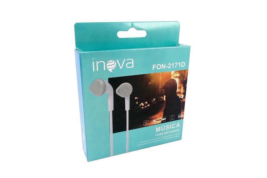 Fone Ouvido Intra-auricular c/ Microfone Inova FON-2171D