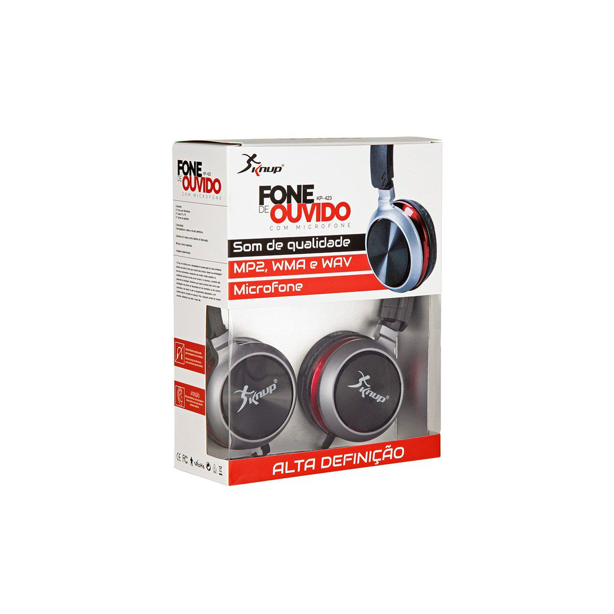 Fone Ouvido P2 Extra Bass Knup KP-423