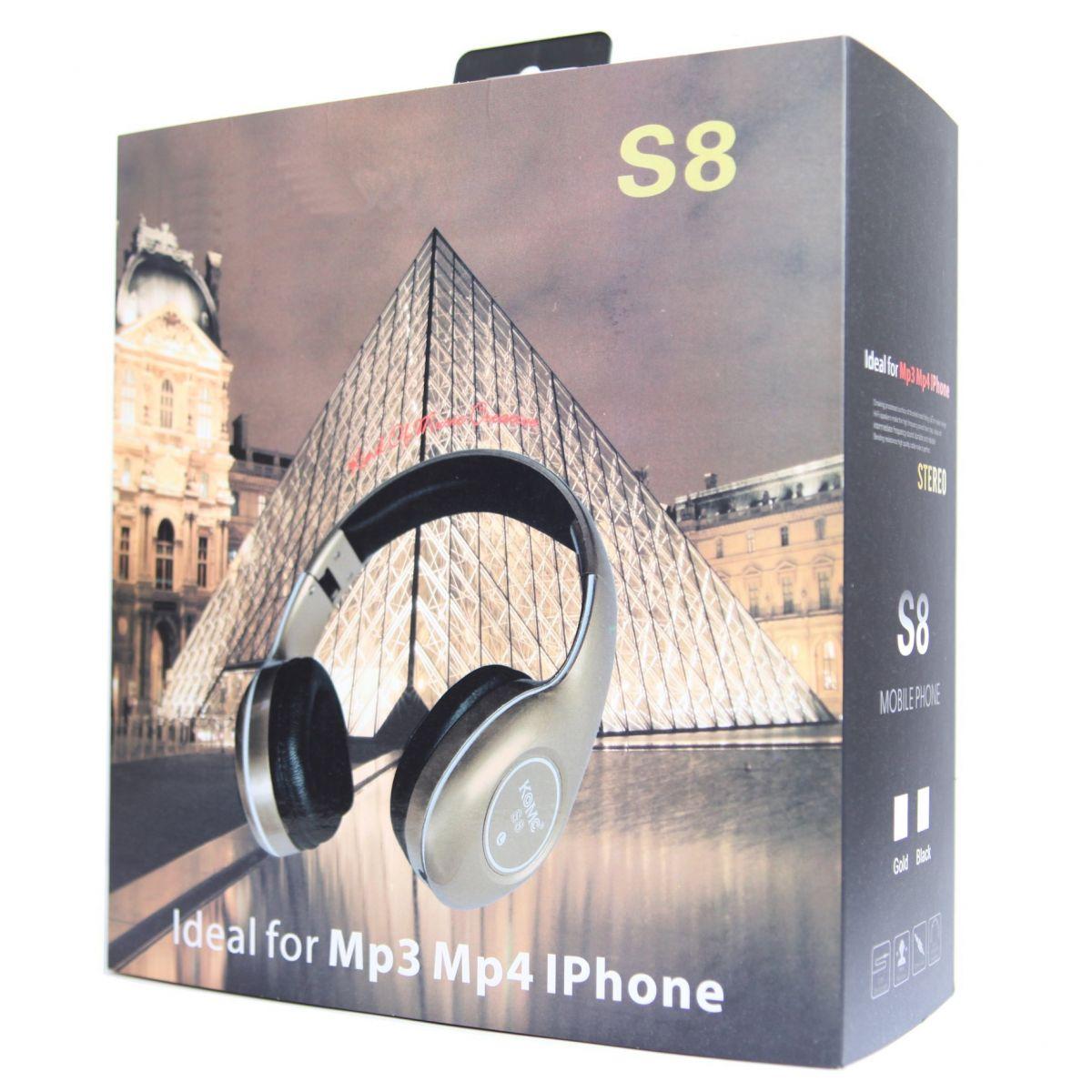 Fone Ouvido Super Bass c/ Microfone Lapela S8 Gold