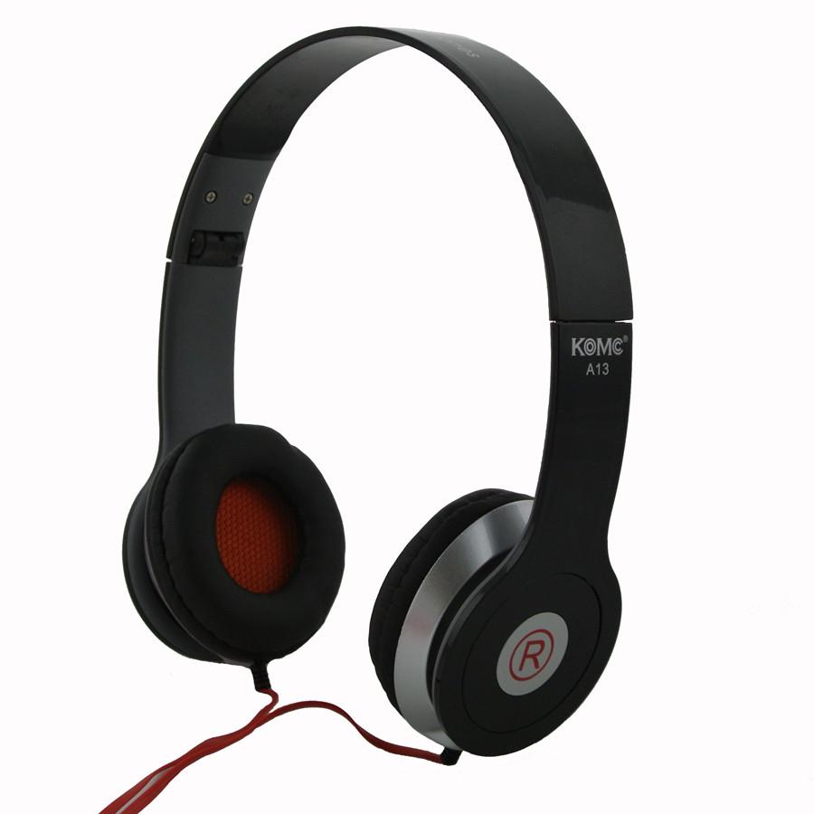 Fone Ouvido Stéreo Headphone Dobrável A13 Preto