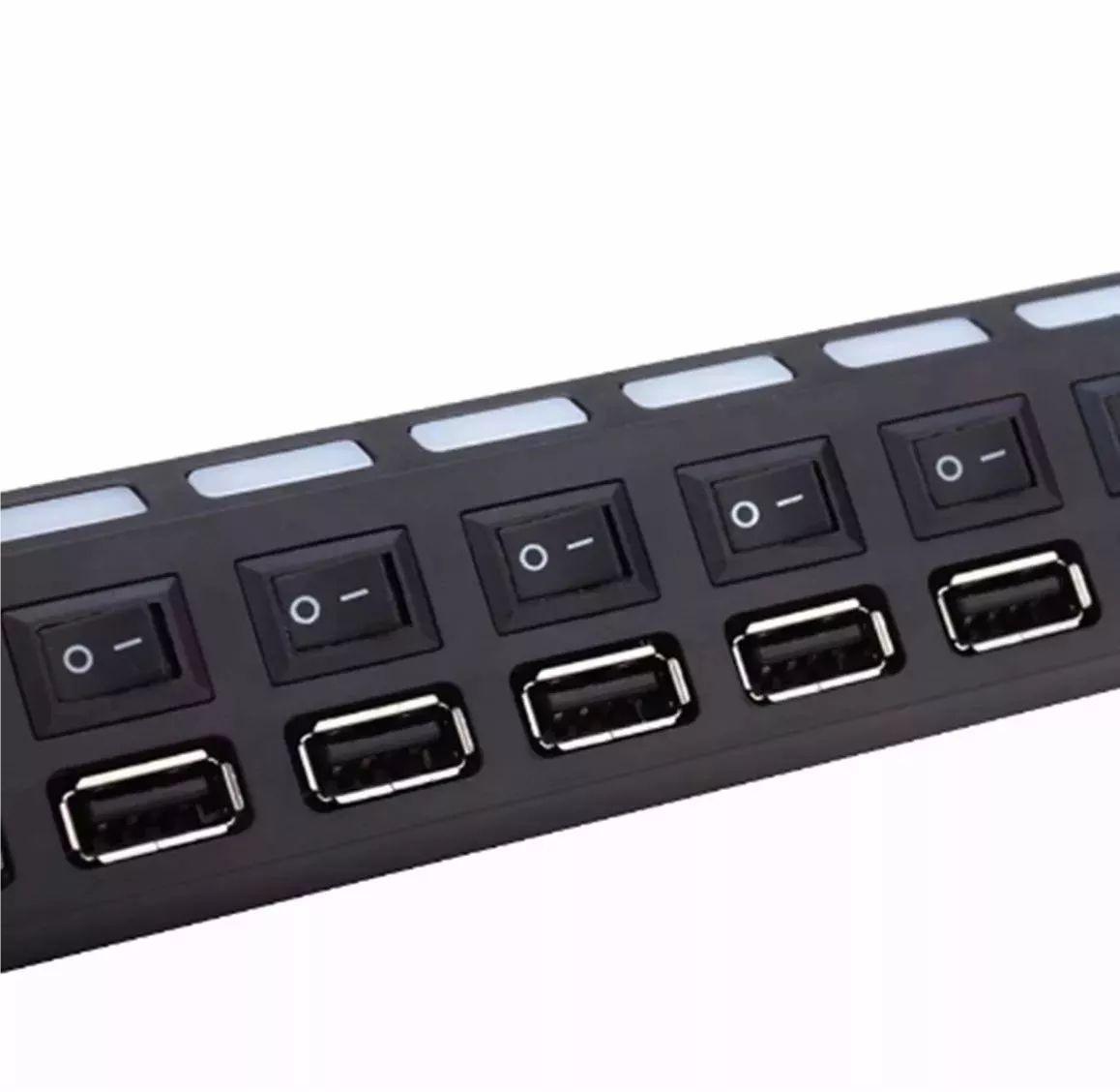 Hub USB 2.0 7 Portas C/ Interruptores