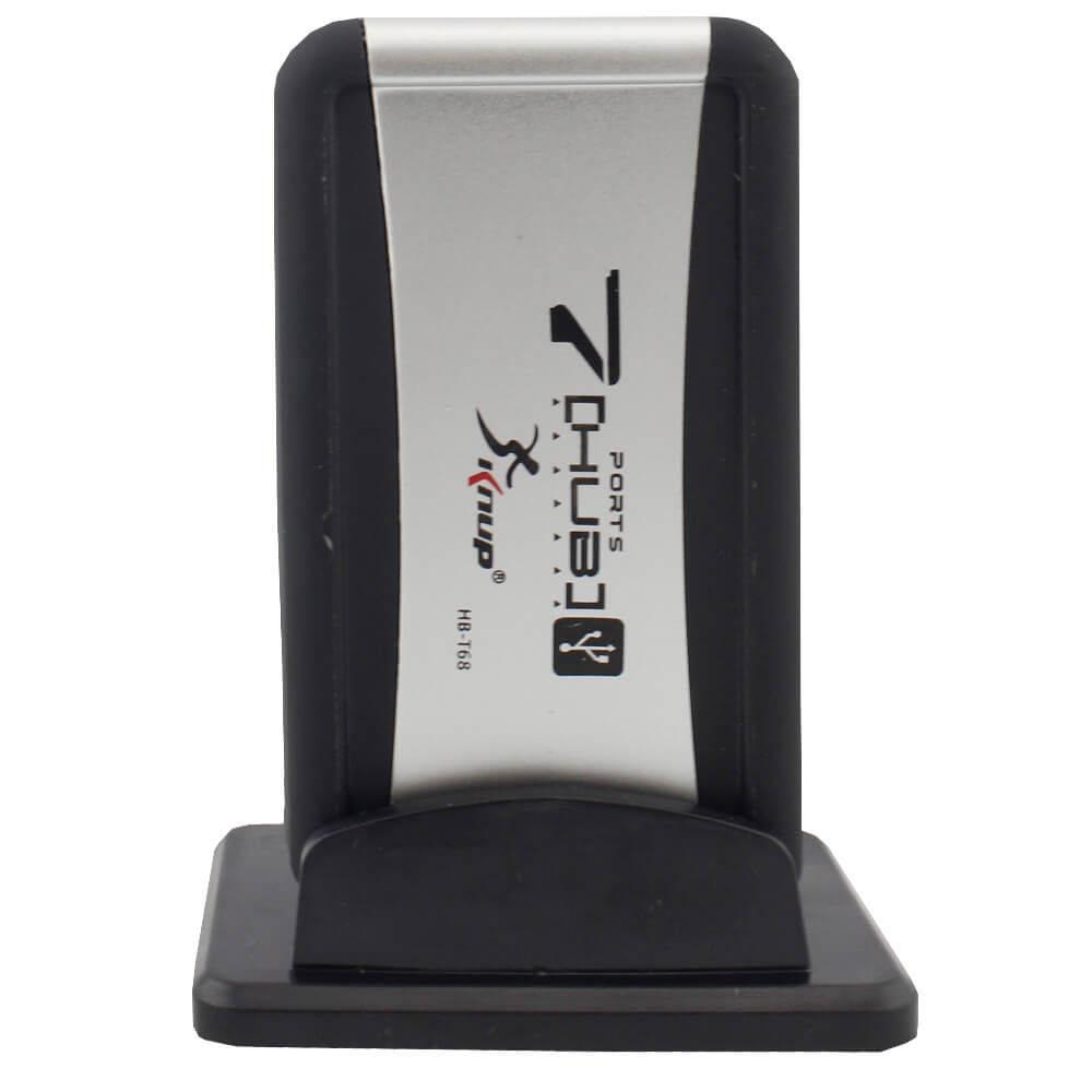 Hub USB 2.0 Knup HB-T68 7 Portas C/ Fonte Bivolt