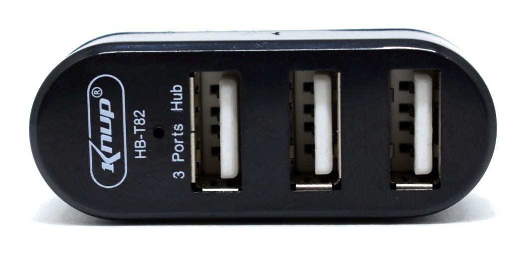 Hub Usb 3 Portas Pc Portátil Knup Hb-t82