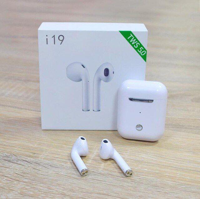i19 TWS fone de ouvido sem fio fone de ouvido bluetooth com case de carregamento