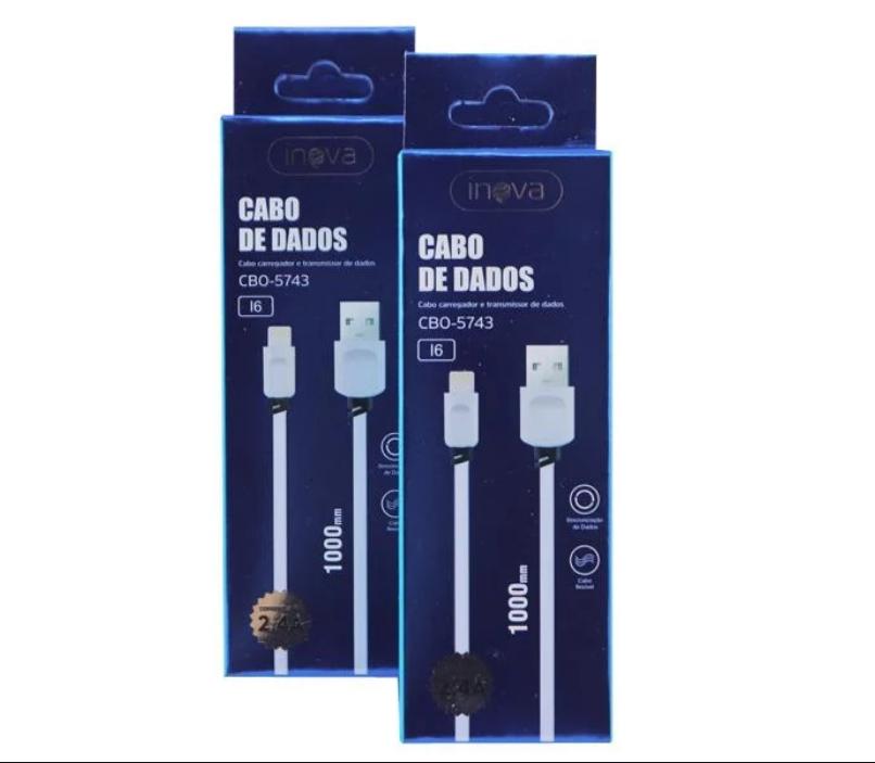 Kit 10 Cabo Turbo USB 1M Iphone Inova CBO-5606 Atacado