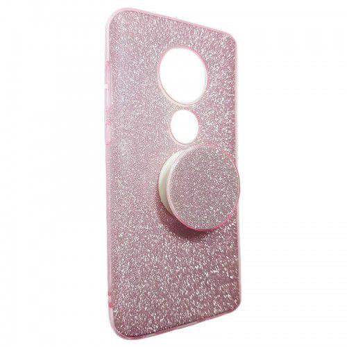 Kit 10 Capinha Anti-Impacto Glitter C/ Popsocket