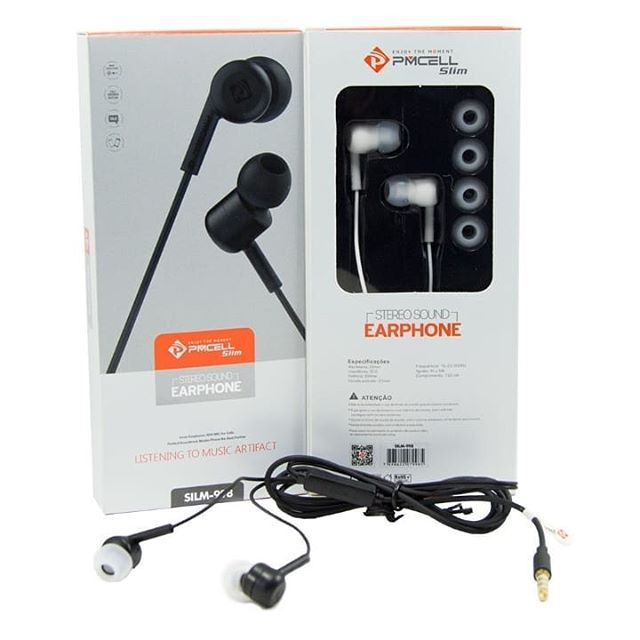 Kit 10 Fone Ouvido Stereo Slim PMCELL Fo13