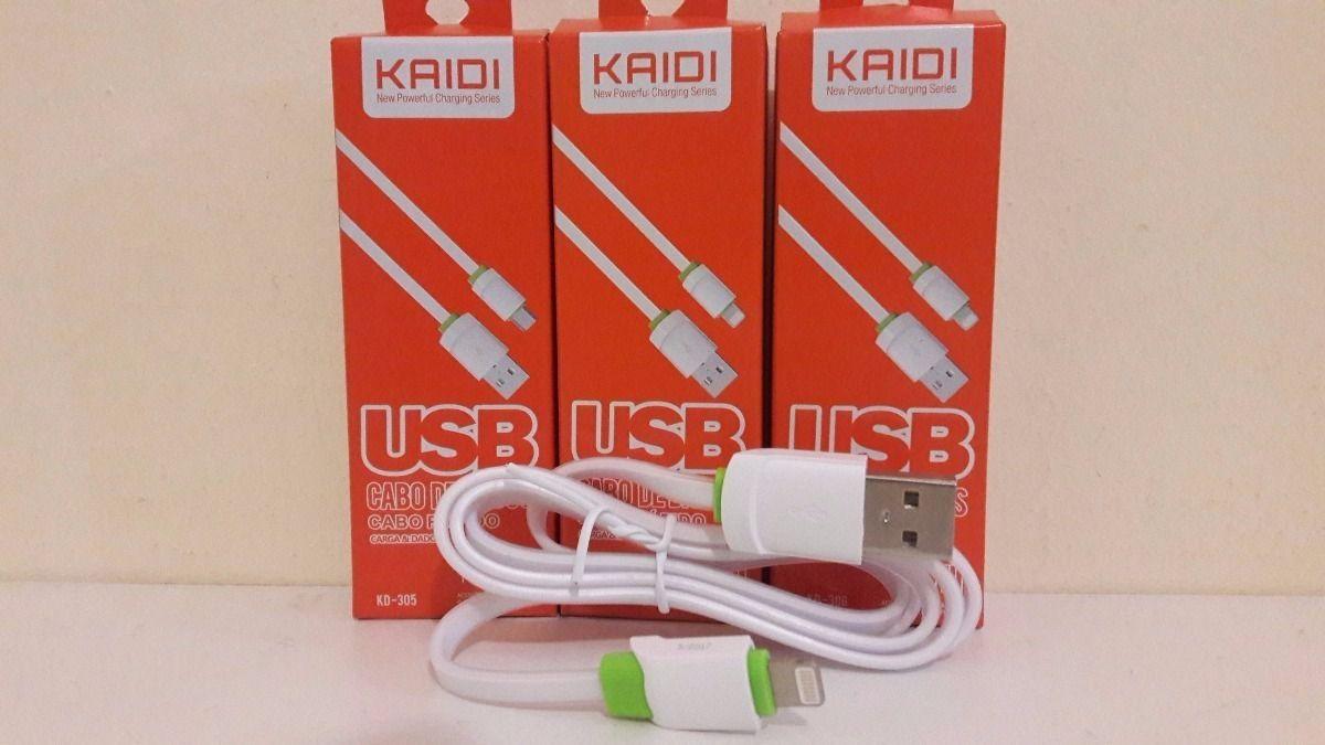 Kit 10x Cabo de Dados USB | 1M Lightning | Kaidi KD306