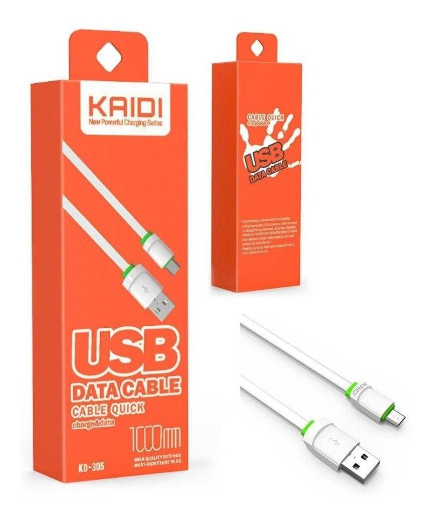 Kit 10x Cabo de Dados USB | 1M V8 | Kaidi KD305