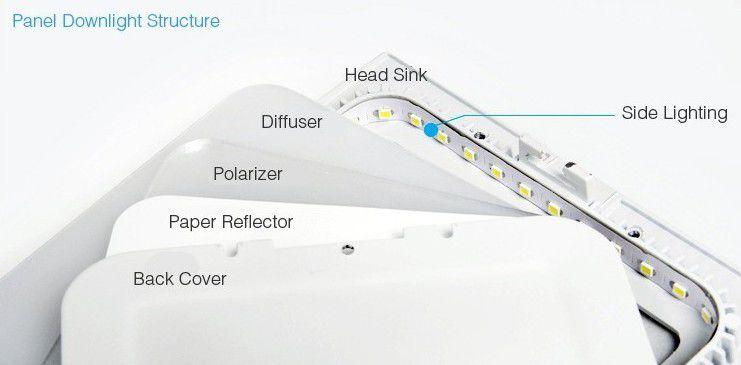 Kit 10x Plafon Painel Spot Redondo Led Slim 12w Branco Puro