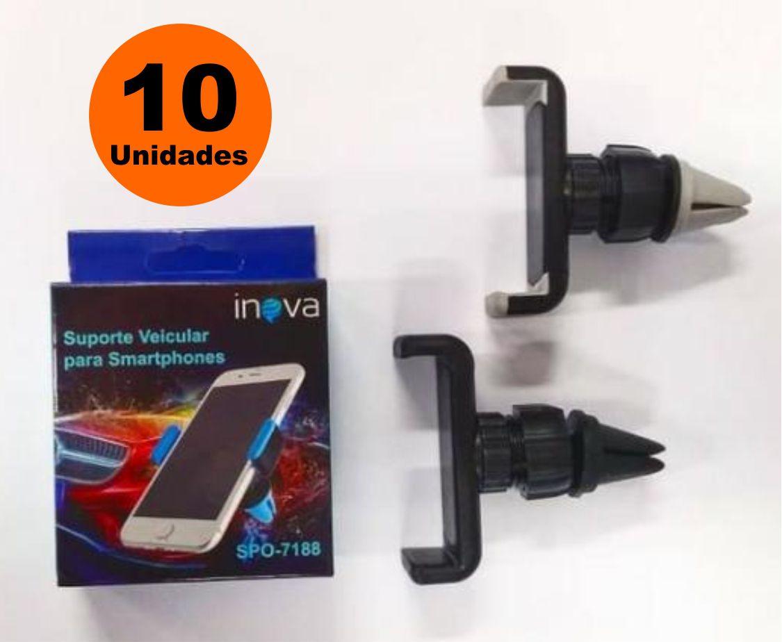 Kit 10x Suporte Veicular para Smartphone Inova SPO-7188