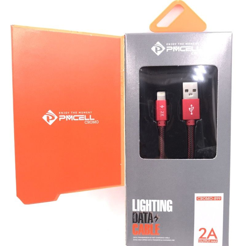 Kit 20 CABO DADOS TURBO USB | IPHONE LIGHTNING 1M | PMCELL CROMO899 CB21