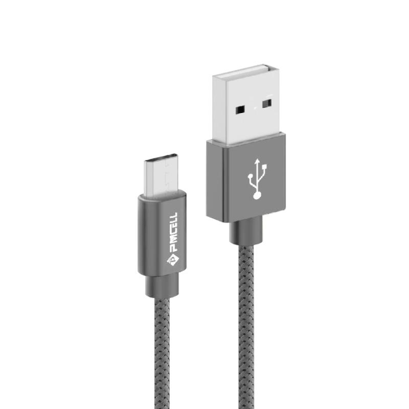 Kit 20 CABO DADOS TURBO USB   MICRO USB V8 2M   PMCELL CROMO889 CB21