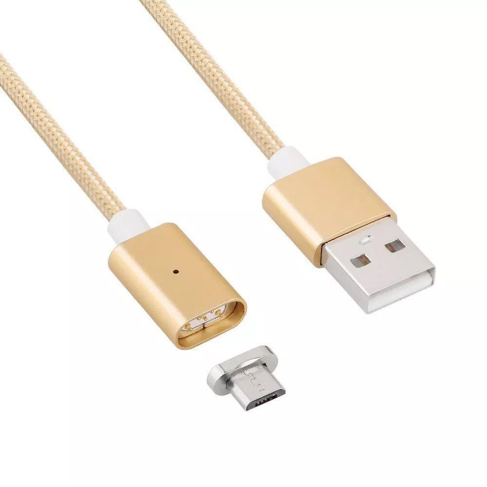 Kit 2 Cabos Dados Conector Magnético 1 V8 e 1 Iphone